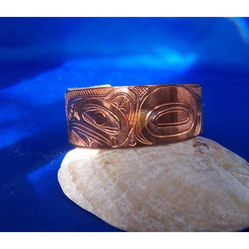 Copper eagle side view Eagle Raven Bracelet by Neil Goertzen