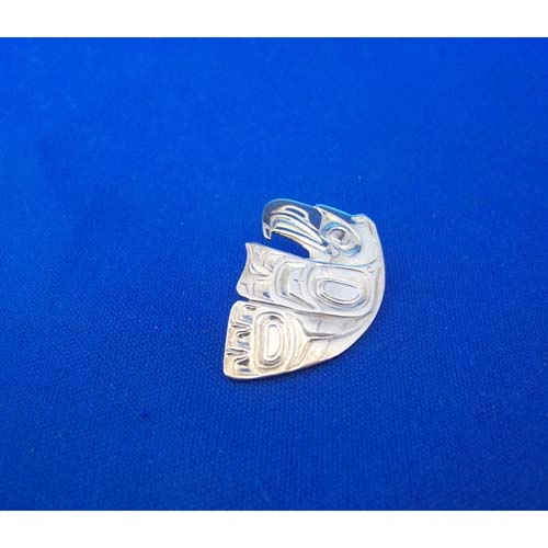 Eagle Cut Out Silver Pendant by Carmen Goertzen
