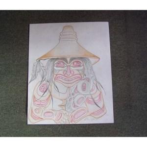 Original Drawing Man by David Jones