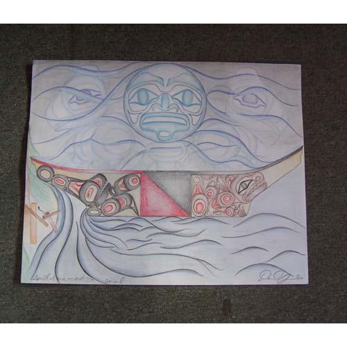 Original Drawing Spirit of Our Ancestors by David Jones