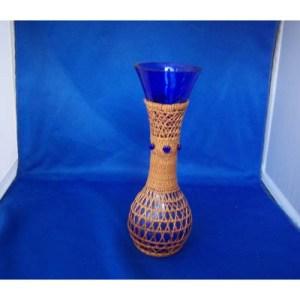 Red Cedar Bark Vase by Brenda Edenshaw