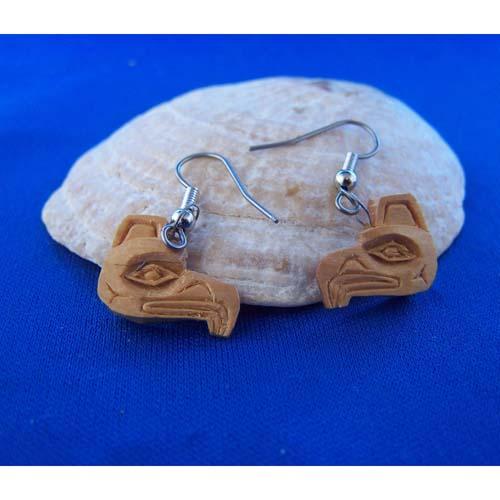 Red Cedar Eaglel small Earrings by Leon Ridley