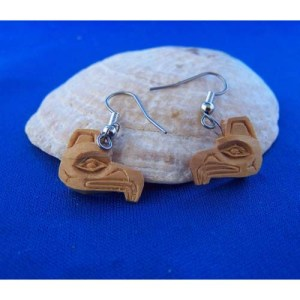 Red Cedar Eaglel small Earrings by Leon Ridley