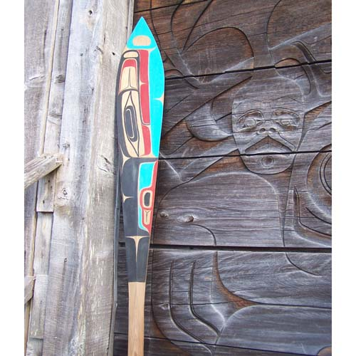 Red Cedar Killer Whale Paddle by Gene Davidson Jr.