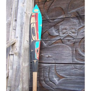 Red Cedar Killer Whale Paddle by Gene Davidson Jr.