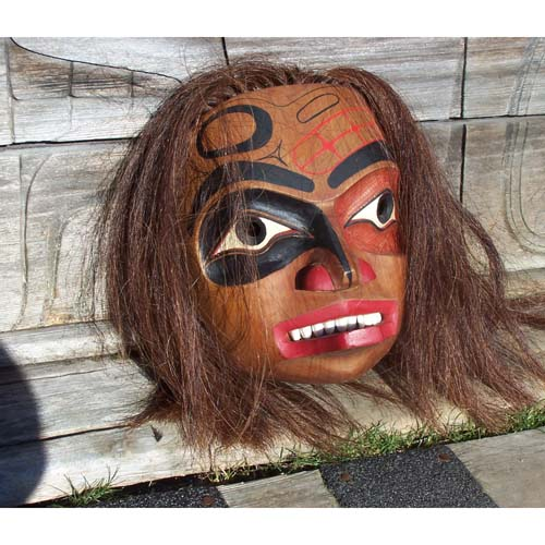 Red Cedar Woman Mask by Keith Bell