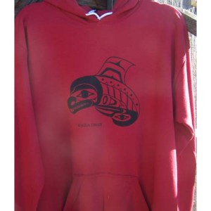 Red Hoodie Killer Whale by Cooper Wilson