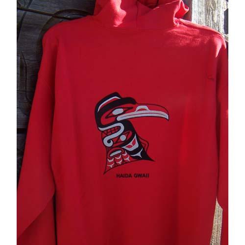 Red Hoodie ZLipper front Raven by Cooper Wilson