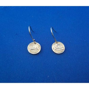 Silver Eagle Earrings by Neill Goertzen
