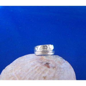 Silver Eagle Heart Wrap Ring by Carmen Goertzen