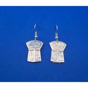 Silver Eagle Shield Earrings by Neil Goertzen