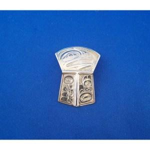 Silver Eagle Shield Pendant by Neil Goertzern