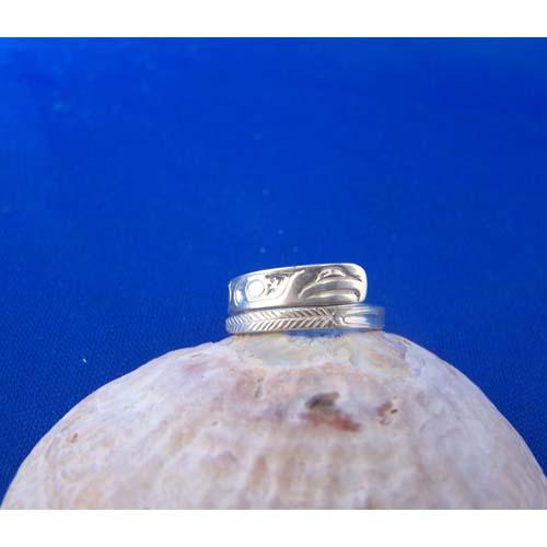 Silver Eagle Wrap Ring by Carmen Goertzen