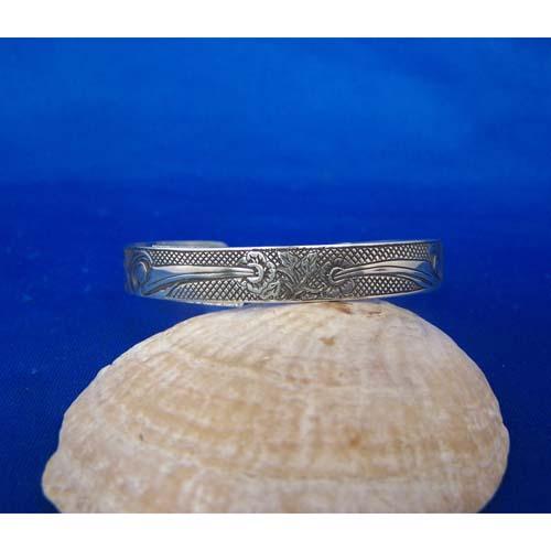 Oxidized Silver Hummingbird Bracelet by Carmen Goertzen