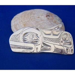 Silver Killer Whale Pendant by David Jones