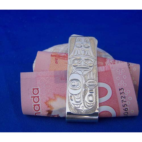 Silver Money Clip with Human design by David Jones