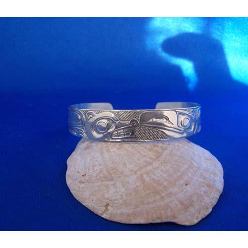 Silver Ravaen Wolf Bracelet by Carmen Goertzen