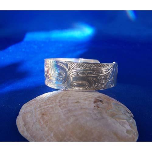 Silver Side View Eagle Bracelet by Neil Goertzen