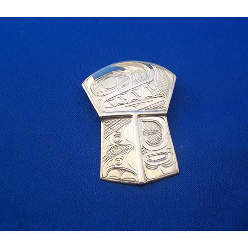 Silver Wasco Shield Pendant by Neil Goertzen