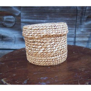 Yellow Cedar Basket by Maxine Edgars