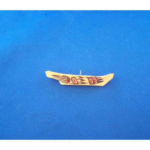 Yellow Cedar raven design Canoe Pendant by Leon Ridley