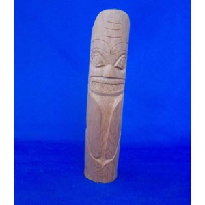 Yew Wood Shark Totem by Leon Ridley