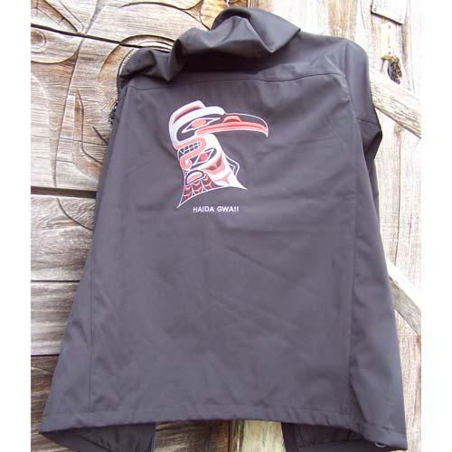 Black Hood Jacket Back View by Cooper Wilson