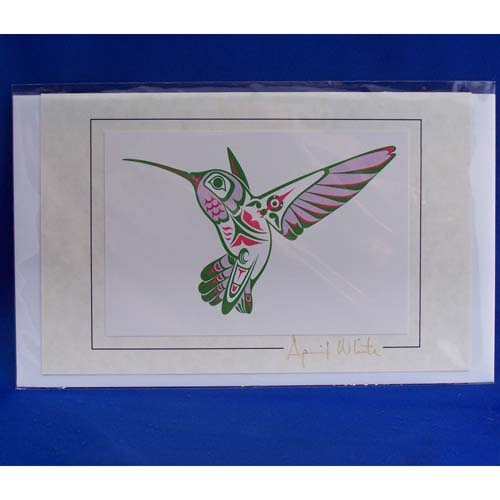 Card-Hummingbird 2 by April White