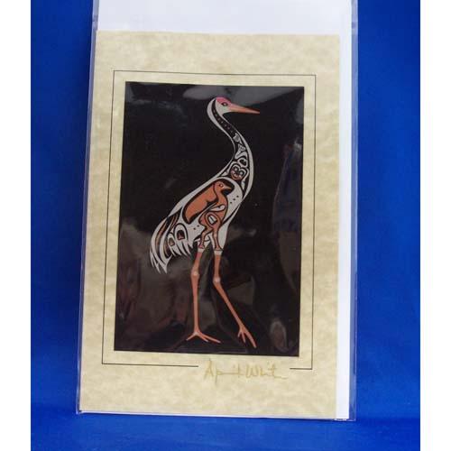 Card-Sanhill Crane 3 by April White