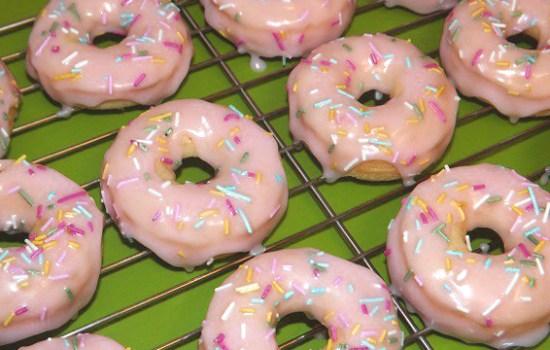 Gluten Free Baked Iced Doughnuts