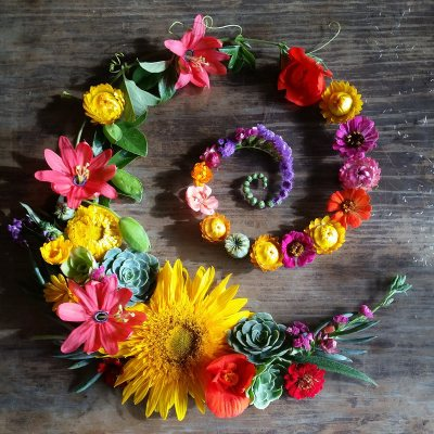 Summer Flower spiral