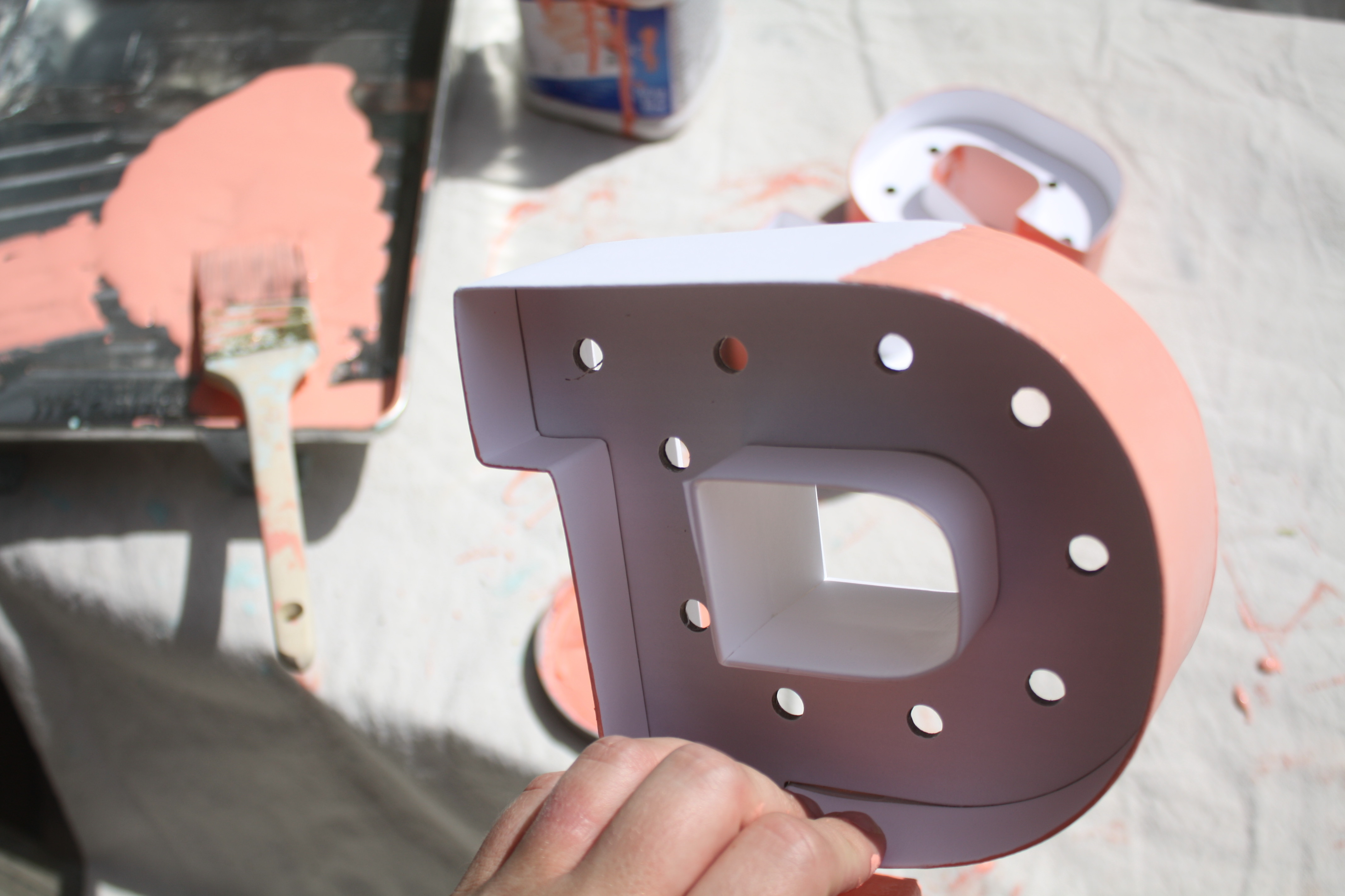 Glam Office Makeover: DIY Marque Letters || Sarah Sofia Productions