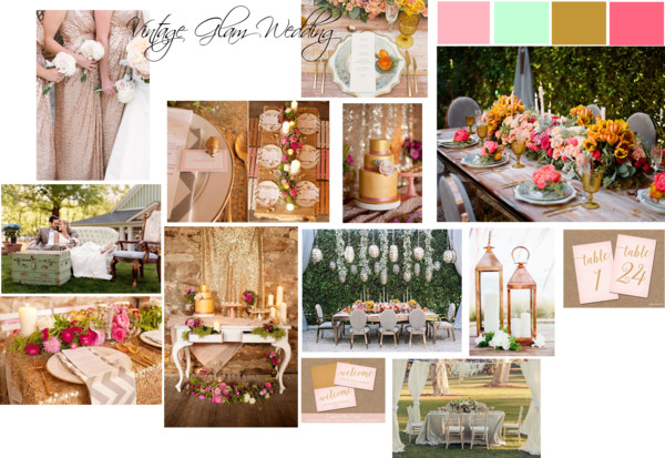 Vintage Glam Wedding Inspiration via Sarah Sofia Productions