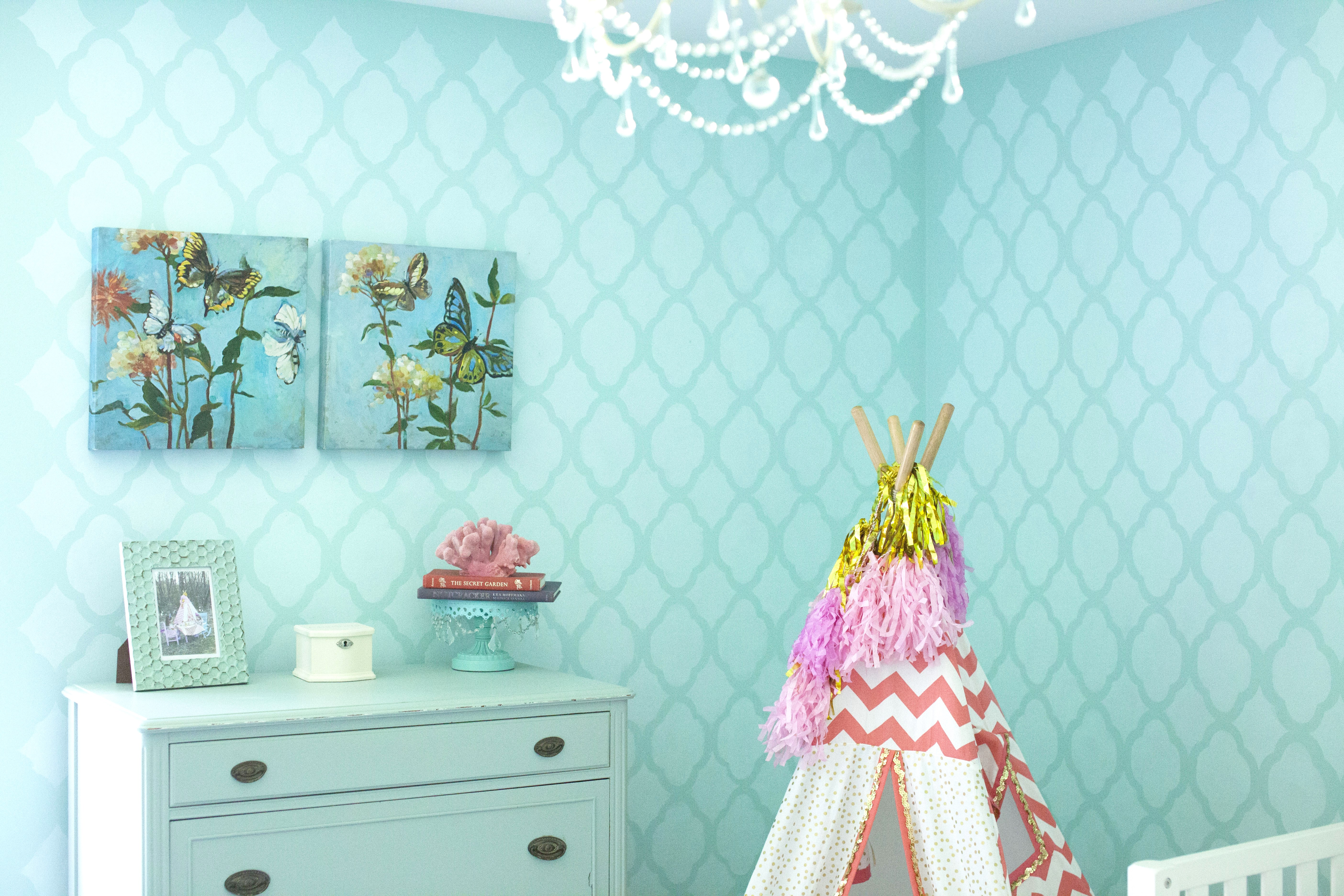 Coral And Robins Egg Blue Big Girl Room -- Sarah