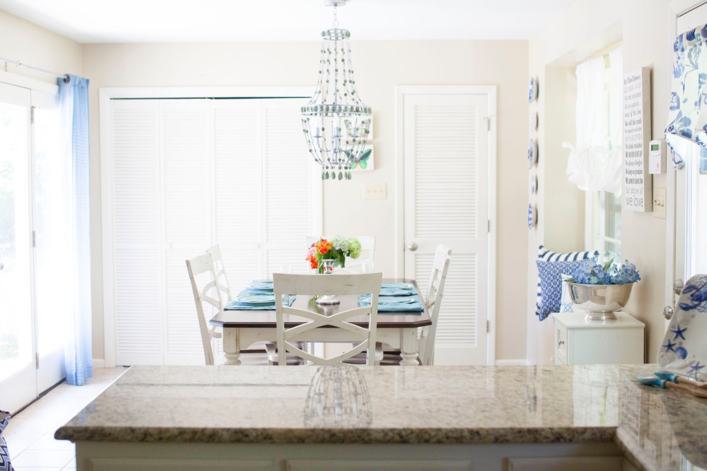 Blue and White Kitchen Makeover || Sarah Sofia Productions