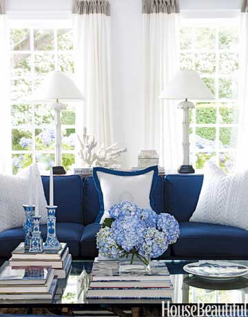 Blue and White Living Room Inspiration Sarah Sofia Productions
