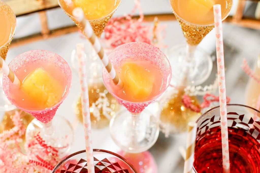 Sparkling Pear Cocktail Recipe for New Years and Parties Sarah Sofia Productions