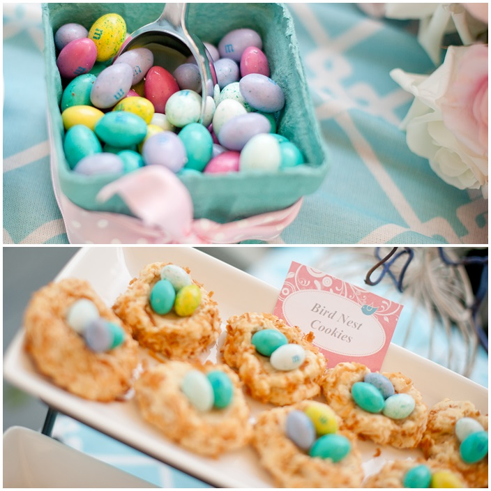 Bird Nest Cookies for Easter or a Party Treat via Sarah Sofia Productions