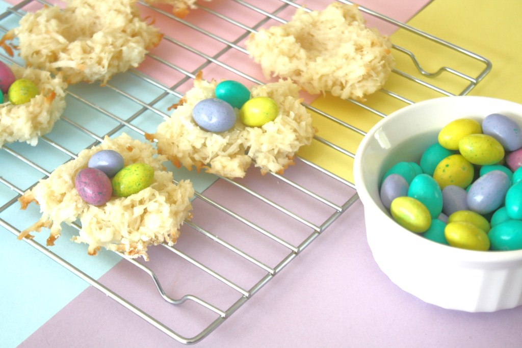 Bird Nest Cookies for Easter or Party Treat via Sarah Sofia Productions