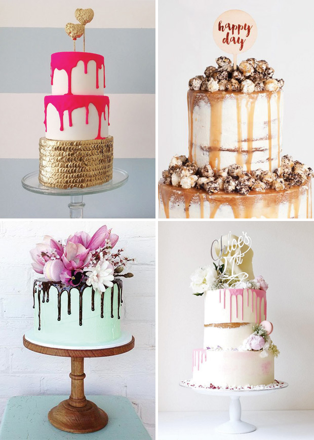 9 Weddig Trends inspired by Pantone's Colors of The Year: Dripped Cake