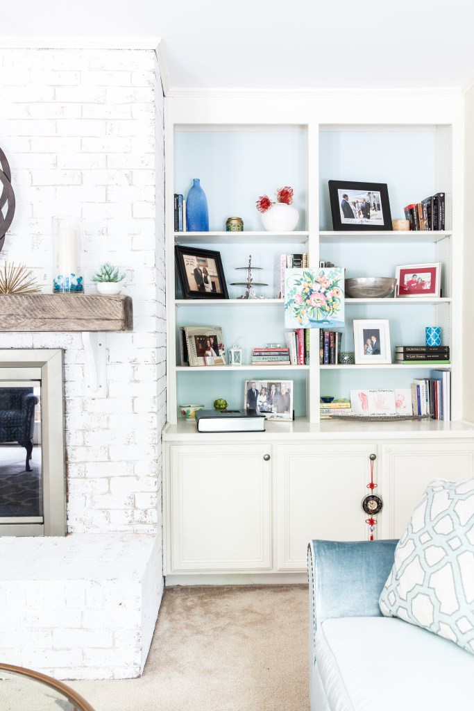 Coastal Family Room Refresh via Sarah Sofia Productions