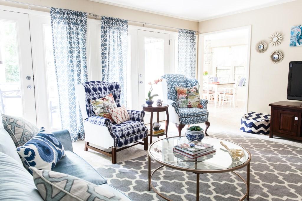 Coastal Family Room Refresh via Sarah Sofia Productions