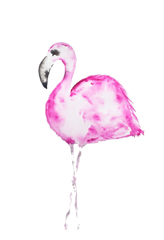 FREE Pintable Pink Flamingo via Sarah Sofia Productions