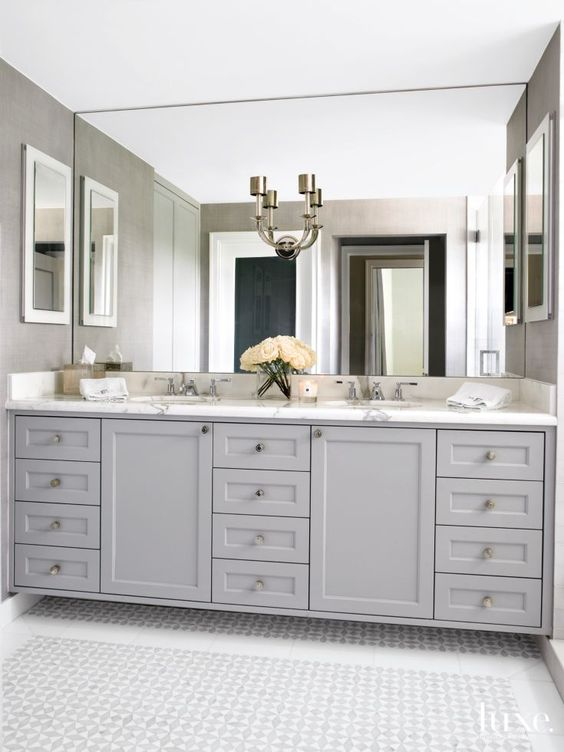 Master Bath Refresh Inspiration via Sarah Sofia Productions