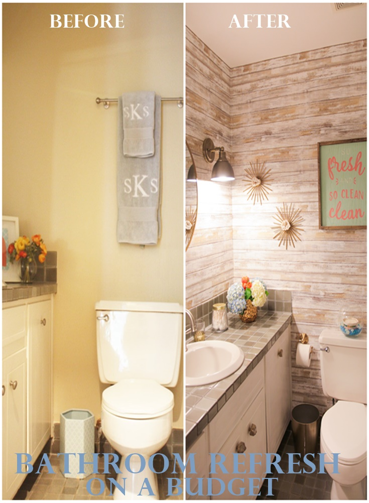 Beau Maintaining The Coastal Inspired Style Of Our Home And The Dual Purpose Of  This Bathroom (guest And Kids Bath), We Decided On Distressed Wood  Removalable ...