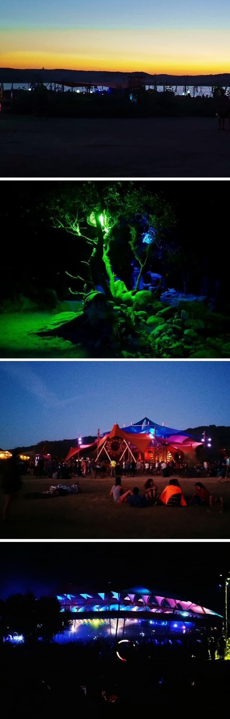 Boom Festival Portugal at Night