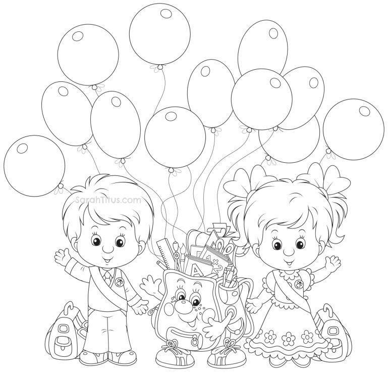 Back to School Coloring Pages - Sarah Titus | coloring pages for kindergarten