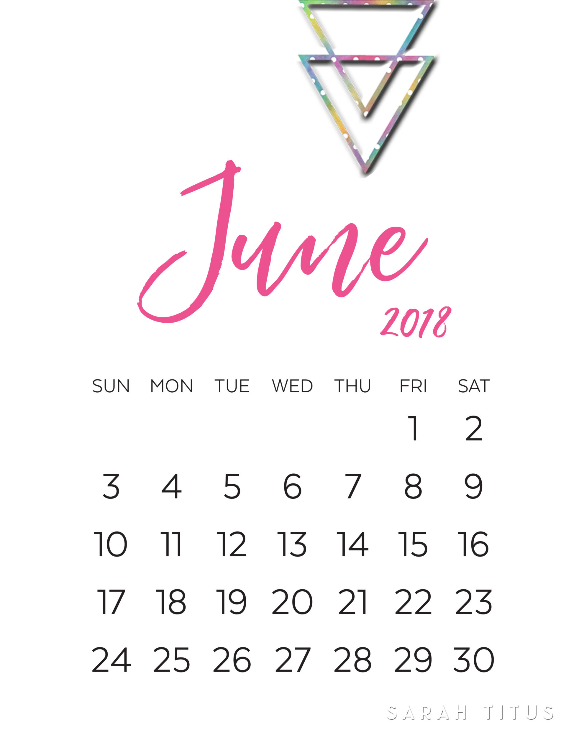 Modern Monthly Calendars Printables