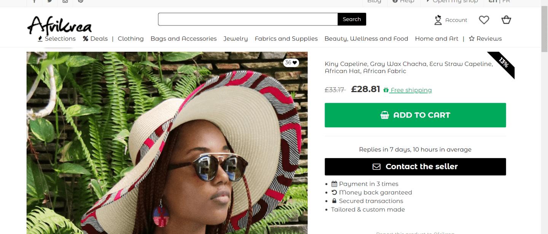 african print sun hat