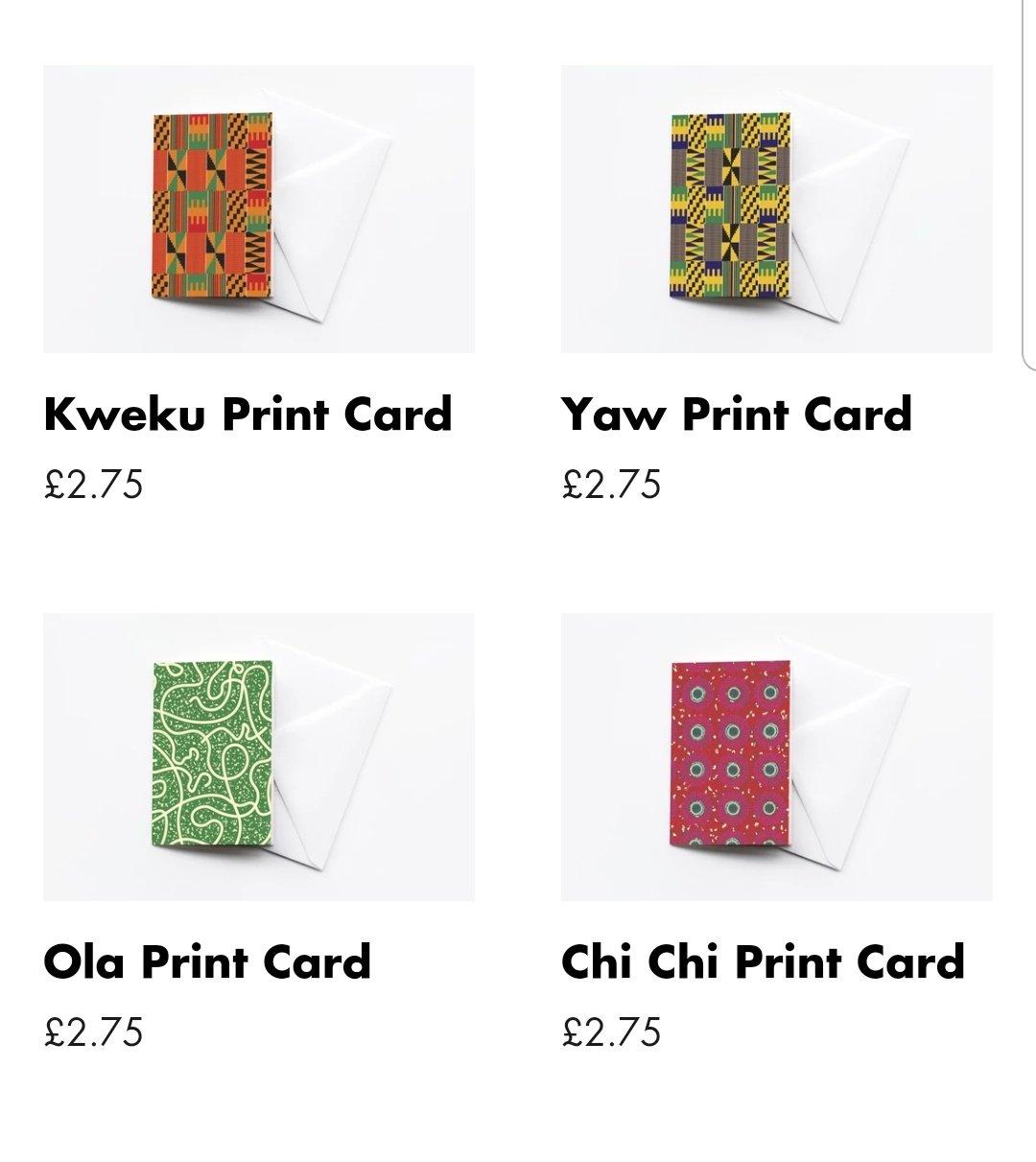 African Print Card